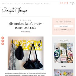 kate's pretty paper coat rack – Design*Sponge