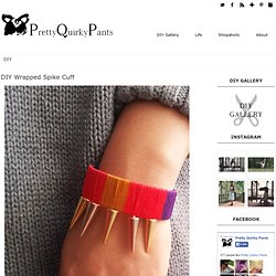 DIY Wrapped Spike Cuff