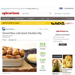 Pretzel Bites with Quick Cheddar Dip Recipe