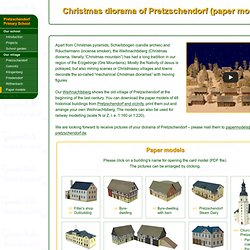 Diorama of Pretzschendorf - 48 paper models (papercraft, cardstock models) free download