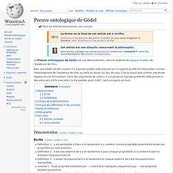 Preuve ontologique de Gödel