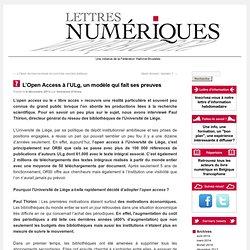 L'Open Access à l'ULg, un modèle qui fait ses preuves
