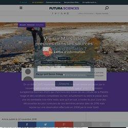 Vie sur Mars : des preuves dans les sources chaudes d'El Tatio ?