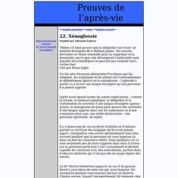 Article/ 22. Xénoglossie