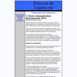 2006 Extraits TCI Preuves de l'après-vie V.Zammit SITE Afterlife evidence