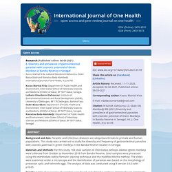 INTERNATIONAL JOURNAL OF ONE HEALTH 06/03/21 Diversity and prevalence of gastrointestinal parasites with zoonotic potential of Green Monkeys in Bandia Reserve in Senegal