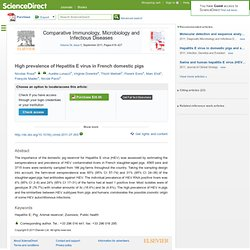 Comparative Immunology, Microbiology and Infectious Diseases, In Press, Corrected Proof, Available online 27 August 2011 High pr