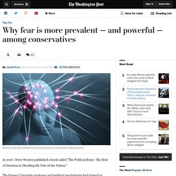 Why fear is more prevalent — and powerful — among conservatives