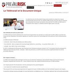PREVALRISK - Actualités - Le Télétravail et le Document Unique