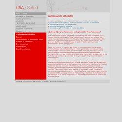 UBA: Salud > prevención y promoción de la salud > alimentación saludable