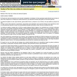 RED FEMINISTA Violencia de Género - FEMINISMO - IGUALDAD - PREVENCIÓN- MUJERES- POLITICA- SALUD REPRODUCTIVA - LAICIDAD