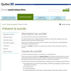 Suicide - Santé mentale