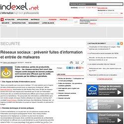 Réseaux sociaux : prévenir fuites d'information et entrée de malwares