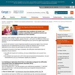 Prévenir les risques professionnels dans les EHPAD