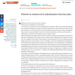 Prévenir la violence et la radicalisation chez les ados