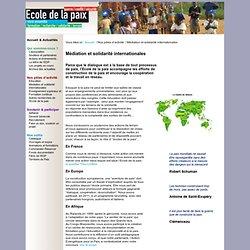 Ecole de la paix.org - prévenir les violences, maintenir la paix