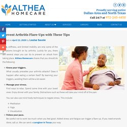 Prevent Arthritis Flare-Ups with These Tips