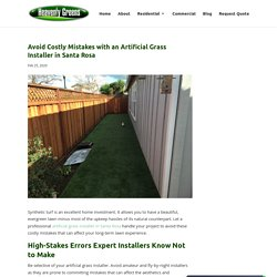 Prevent Costly Errors with an Artificial Grass Installer in Santa Rosa