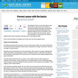 Prevent cancer with the basics