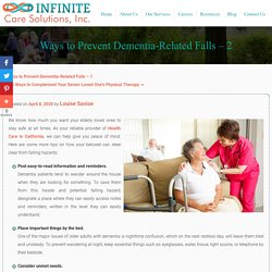 Ways to Prevent Dementia-Related Falls - 2
