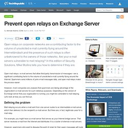 Prevent open relays on Exchange Server