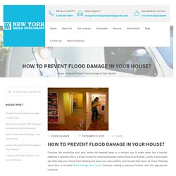 How to Prevent Flood Damage in Your House?