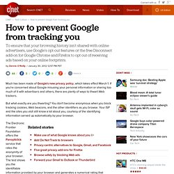 How to prevent Google from tracking you