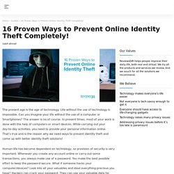 16 Proven Ways to Prevent Online Identity Theft Completely!