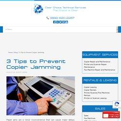 3 Tips to Prevent Copier Jamming