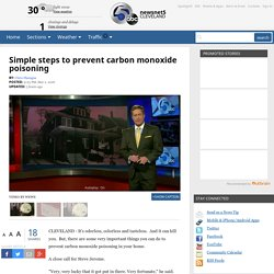 Simple steps to prevent carbon monoxide poisoning