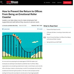 How to Prevent the Return to Offices From Being an Emotional Roller Coaster