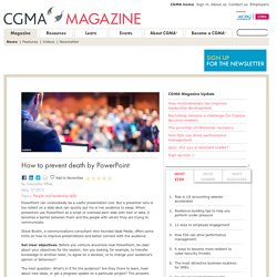 How to prevent death by PowerPoint - CGMA Magazine