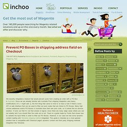 Prevent PO Boxes in shipping address field on Checkout