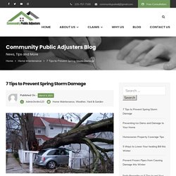 7 Tips to Prevent Spring Storm Damage