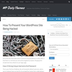 How To Prevent Your WordPress Site Being Hacked