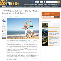 Avoiding Alzheimer's: Study Finds 7 Preventable Risk Factors