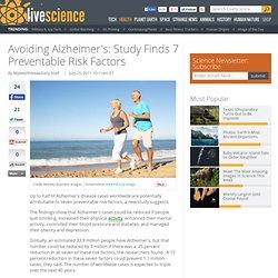 Avoiding Alzheimer's: Study Finds 7 Preventable Risk Factors
