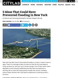 5 Ideas That Could Have Prevented Flooding in New York