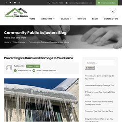 Preventing Ice Dams and Damage to Your Home