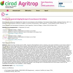 CIRAD - MARS 2017 - Preventing the spread and mitigating the impact of cocoa diseases in the Caribbean