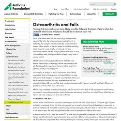 Osteoarthritis Falls