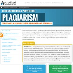Guide to Preventing Plagiarism