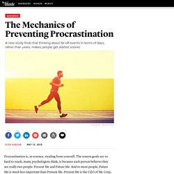The Mechanics of Preventing Procrastination