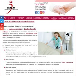 Preventing Bed Sores in Your Loved One