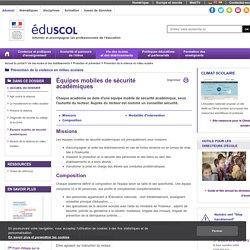 EMS - Équipes mobiles de sécurité académiques