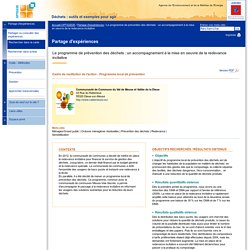 Le programme de prévention des déchets : un accompagnement à la mise en oeuvre de la redevance incitative : OPTIGEDE