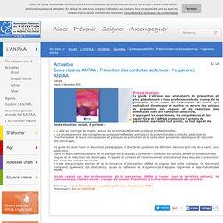 ANPAA : Prévention des conduites addictives – l'expérience ANPAA