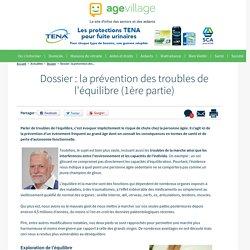 Dossier : la prévention des troubles de l'équilibre (I) - 08/09/16