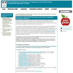 DRAAF OCCITANIE 28/06/16 Etat des lieux régional des actions de prévention du gaspillage alimentaire