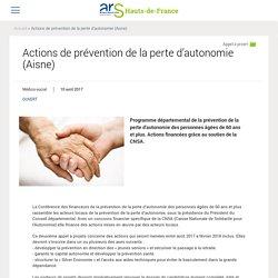 Actions de prévention de la perte d'autonomie (Aisne)